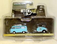 Greenlight 1/64 Scale 1972 Volkswagen Type 2 + Teardrop Trailer Diecast model
