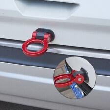 1Pcs Red Universal Round Car Auto Decoration Dummy Tow Hook Sticker Trailer