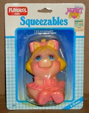Vintage Playskool Muppet Babies Miss Piggy Squeezable New Old Stock