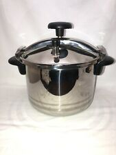 MAGEFESA Stainless Steel Pressure Cooker Steamer 8 Quart Complete Made in Spain