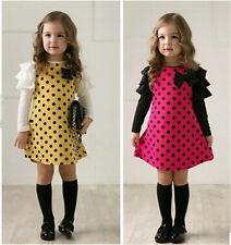 primavera DOT niñas vestidos de niños princesa gasa ropa chica vestido