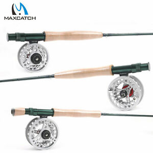 Maxcatch Fly Fishing Rod And Reel Combo #3/4/5/6/7/8 WT Fly Rod + ECO Fly Reel