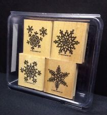 Stampin Up Lace Snowflakes Rubber Stamp Set Crafts Christmas Holiday Winter