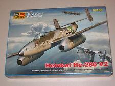1/72 Scale RS Models Heinkel He-280 V2 German turbojet powered fighter aircraft