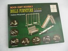 NEW & Unmade Wood Craft Dolls Furniture Kit - Outdoor Playground 1/12 Scale