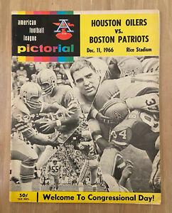VINTAGE 1966 AFL NFL BOSTON PATRIOTS @ HOUSTON OILERS FOOTBALL PROGRAM - DEC 11