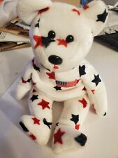 Vintage toy Beanie Babies Baby Glory Red USA 1998s Teddy Bear Tag errors