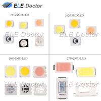 100 1000PCS SMD SMT 2835 1210(3528) 5050(2020) 5730 LED White Red Blue Orange UV