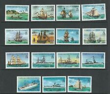TURKS and CAICOS ISLANDS 1983 SHIPS SCHOONERS etc. LONG SET (Sc 578-92) VF MNH