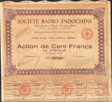 Société RADIO-INDOCHINE (INDOCHINE) (U)