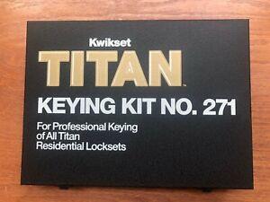 Kwikset Titan Keying Kit #271 for Professional Residential Keying