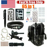 65 in1 Tactical Camping Survival Kit Outdoor Hiking Emergency EDC Gear Backpack