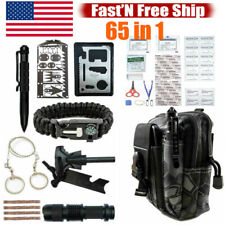 65 in 1 Tactical Emergency Survival Kit Outdoor Camping Hiking EDC Gear Backpack