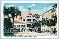 1910's ERA HOTEL ORMOND BEACH FLORIDA*FL*SOUTH ENTRANCE*AMERICAN FLAG*OLD CARS