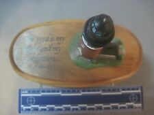 DICKSONS SCULPTURE RESIN LIGHTHOUSE WITH WOOD BASE  REFERENCE PSALM 27:1