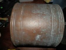 Very Vintage Large Brass Pot/Planter, 12.5 x 10.5 in. Patina, Wear