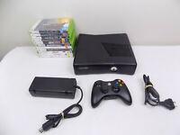 Like New Black Wi-fi Xbox 360 Console + Wireless Controller + 10X Games