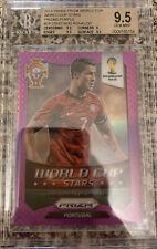 2014 Prizm World Cup Cristiano Ronaldo World Cup Stars Purple Prizm /99 BGS 9.5