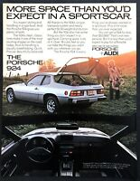 "1977 Porsche 924 Coupe photo ""More Space Than You'd Expect"" vintage print ad"