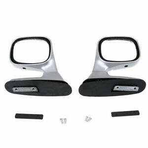 Universal For Vehicle Car Auto SUV/Pickup Rear View Side Hood Mirrors Silver