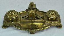 Antique 1800's cast metal (Bronze???) inkwell with weight scale.  (BI#MK/180521)