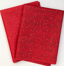 Red Christmas Wrapping Paper Tissue Ho Ho Gift Luxury Gem Stone Eve Box X 10