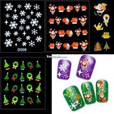 12 Sheet Christmas Snowflake Tree 3D Nail Art Sticker Decal Tips Decoration ESY1