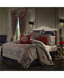New J Queen New York Taormina 4 Piece King Comforter Set MSRP $635