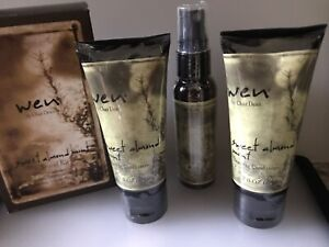Wen by Chaz Dean sweet almond mint, 3-pc Travel Kit Hair Products, Cleansing Con