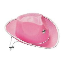 WESTERN COWBOY COWGIRL DRESS UP COSTUME PARTY SUPPLIES 1 CHILDS GIRLS HAT PINK