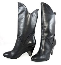 BELLE SIGERSON MORRISON 6621 FASHION WESTERN  PULL ON BOOTS SEMI WEDGE Women's 7