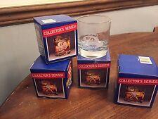 "Set of 4 ~ ""SEAGRAMS"" Barware Glass Tumblers ~  Collector Series"