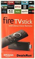 NEW Amazon Fire TV Stick with Alexa Voice Remote 2nd Generation - Black