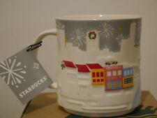 Starbucks Singapore Silver Christmas Relief Mug 2016