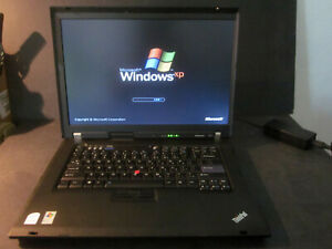 Lenovo Thinkpad Windows XP retro laptop used. Intel Centrino Duo
