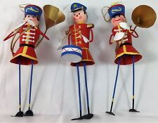 Vintage Toy Soldier Ornaments - 6 1/2 Inches Tall & Set of 3