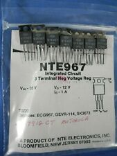 (7) Nte Electronics Nte967 Ic Voltage Regulator Negative 12V 1A To220 Free Ship