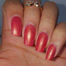 Dark PINK TANGERINE Orange Shiny Nail Polish 5 Free Handmade Vegan Cruelty Free