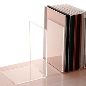 Clear Acrylic Bookends / Bookends Organiser Stand / Office / School / Book End