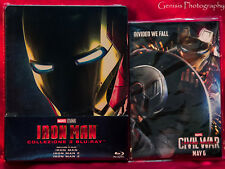 Iron Man Trilogy Steelbook Marvel Comics Blu-Ray Import -Region Free + Art Cards