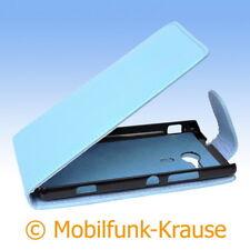 Flip Case Etui Handytasche Tasche Hülle f. Sony Xperia SP (Türkis)