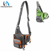 Maxcatch Waterproof Fly Fishing Waist Pack Crossbody Sling Bag Lure Tackle Bag