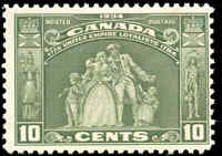 1934 Mint H Canada F Scott #209 10c Loyalists Issue Stamp