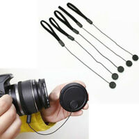 10 Lens Cover Cap Keeper Holder Rope For Sony Nikon Canon Pentax DSLR Camera FVV
