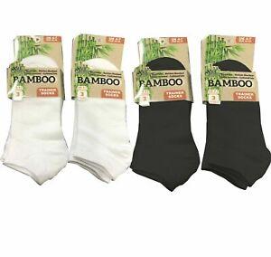 Men Women Trainer Socks Bamboo Ankle Socks Soft Breathable O dour Resistant