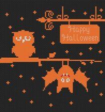Happy Halloween Owl Cross Stitch Kit by Florashell