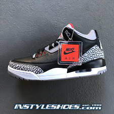 8b24664014235 Nike Air Jordan 3 OG Black Cement Grey 2018 Retro 854262-001 88 AUTHENTIC