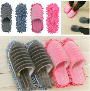 1 Pair Mop Slippers Lazy Floor Foot Socks Quick Dust Polishing Cleaning Shoes UK