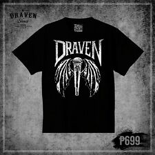 DRAVEN - Winged Microphone - Tee Shirt - Large - Black - Skateboard Punk T