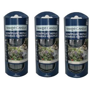 3 x Yankee Candle Scent Plug In Air Freshener Twin Pack (6 Refills) WATER GARDEN
